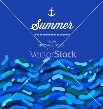 Free abstract summer time background with blue wave vector - Free vector #237847