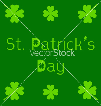 Free st patricks day card with clover leaf vector - vector gratuit #237897