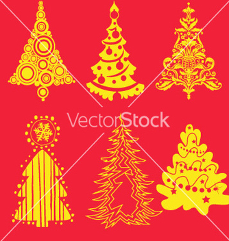 Free christmas tree 3 vector - Free vector #238007