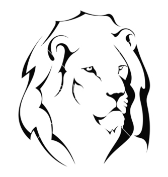Free lion head on a white background vector - Kostenloses vector #238117