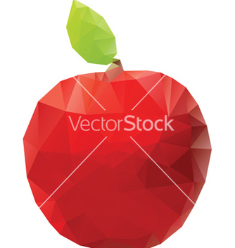 Free geometric red apple vector - Free vector #238127