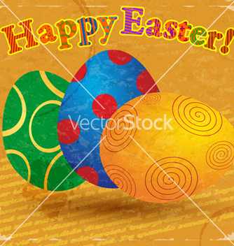 Free vintage card with a picture of easter eggs vector - Free vector #238147