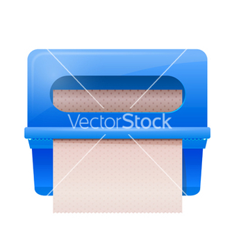 Free blue bathroom wall mounted paper dispenser vector - Free vector #238157