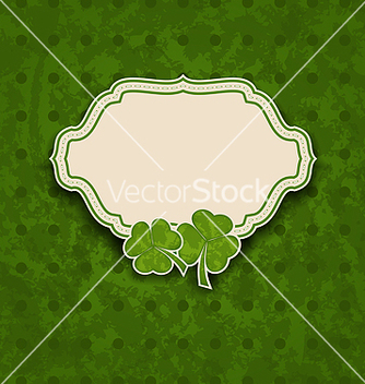 Free holiday card with clovers for st patricks day vector - Free vector #238227
