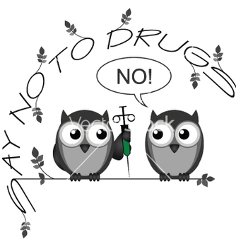 Free no to drugs vector - бесплатный vector #238257