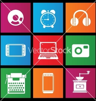 Free icons with charts and graphs vector - vector #238307 gratis