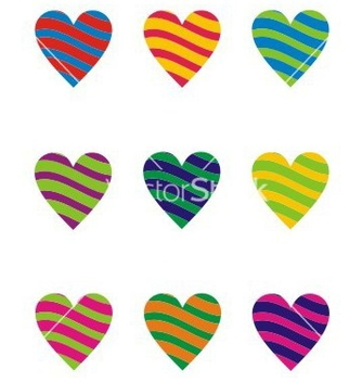 Free two color heart element vector - vector gratuit #238387