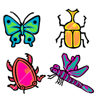 Free cute insect pack vector - Free vector #238527