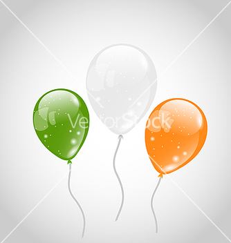 Free irish colorful balloons for st patricks day vector - бесплатный vector #238627