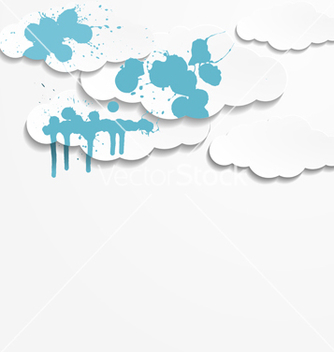 Free abstract background with paper clouds vector - Free vector #238647