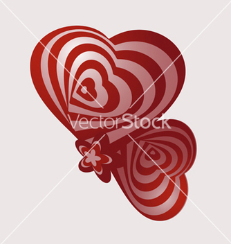 Free two abstract heart vector - бесплатный vector #238657