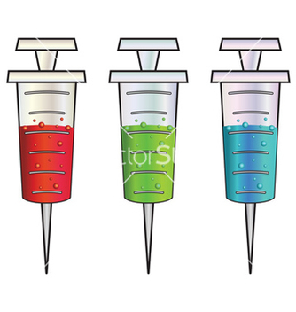 Free cartoon syringes rgb vector - Free vector #238807