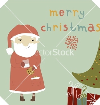 Free card with santa claus vector - vector gratuit #238897