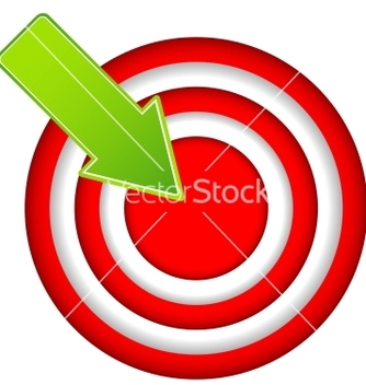 Free red target vector - Free vector #238937