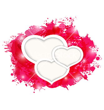 Free valentines day grunge card with beautiful hearts vector - vector gratuit #238967