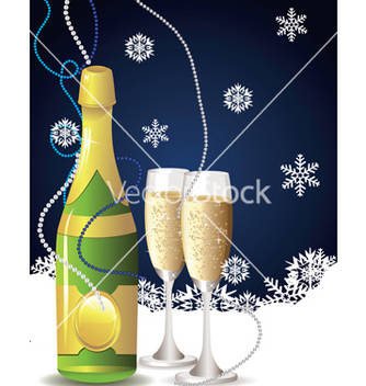 Free card with champagne2 vector - Kostenloses vector #238977