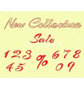 Free embroidered words and numbers for retail vector - Kostenloses vector #238997