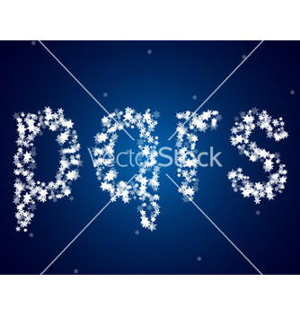 Free snow letters over snow background vector - бесплатный vector #239087
