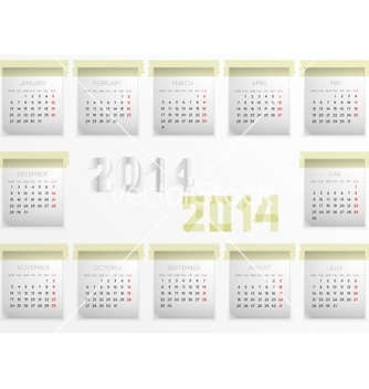 Free calendar for 2014 vector - vector #239187 gratis