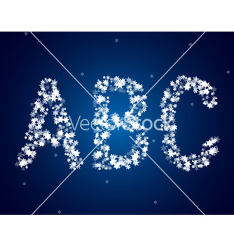 Free snow letters over snow background vector - Free vector #239207