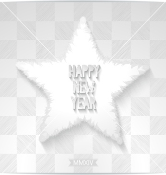 Free happy new year greeting card with 3d star vector - vector #239227 gratis