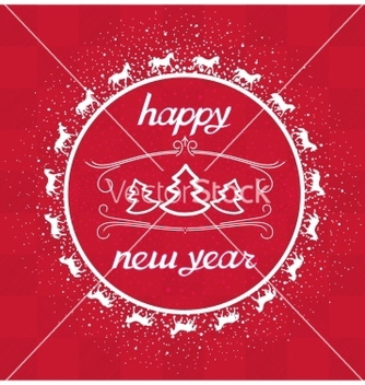 Free happy new year card greeting vector - vector gratuit #239237