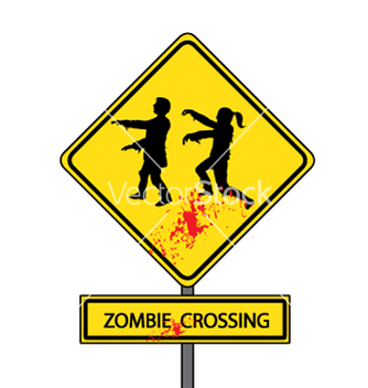 Free zombie crossing vector - бесплатный vector #239257