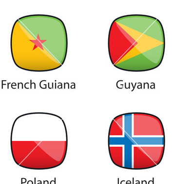 Free international flags buttons sample vector - Free vector #239267