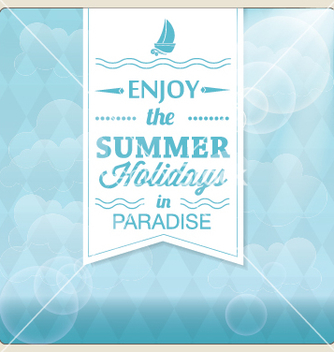 Free summer holiday card design vector - Free vector #239477