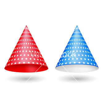 Free red and blue party hats vector - vector gratuit #239587