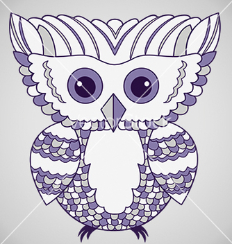 Free cute purple abstract owl vector - vector gratuit #239697