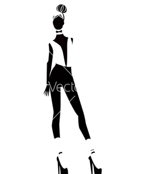 Free silhouettes of one girls vector - Free vector #239717
