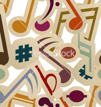 Free seamless pattern with music signs vector - Free vector #239737
