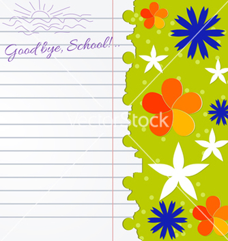 Free abstract background with notebook and color flower vector - Free vector #239747