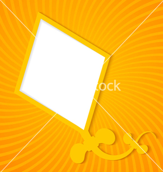 Free kite on a orange background vector - vector gratuit #239757