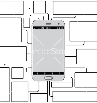 Free touchscreen phone features blank template vector - Kostenloses vector #239777