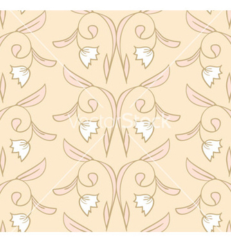Free creamy seamless floral pattern vector - Kostenloses vector #239827