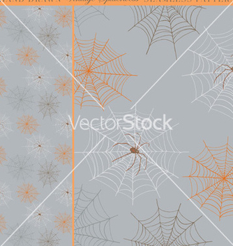 Free hand drawn vintage spiderweb seamless pattern vector - Free vector #239847