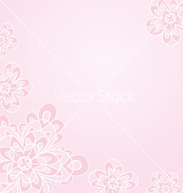 Free light pink floral card template vector - vector gratuit #239867