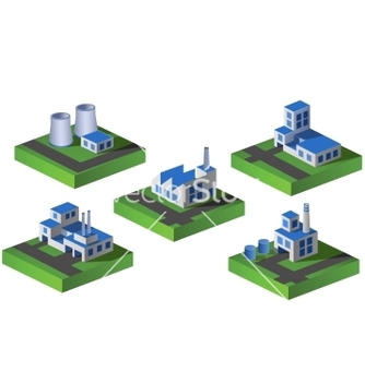 Free isometric factory vector - Free vector #240037