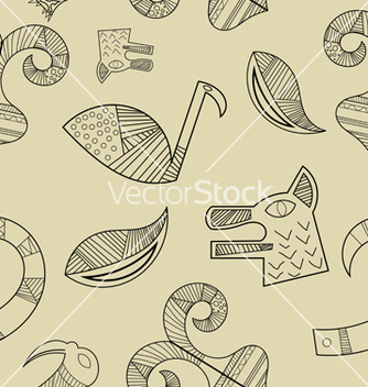 Free seamless texture with elements of the animal style vector - Free vector #240047