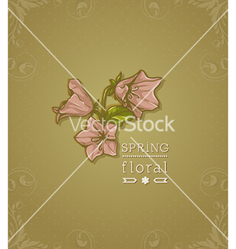 Free floral background vector - Free vector #240077