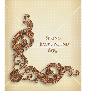 Free floral background vector - Free vector #240117