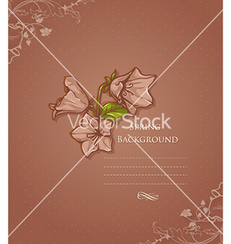 Free floral background vector - Free vector #240127