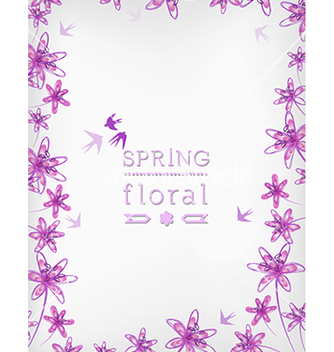 Free floral background vector - Free vector #240137