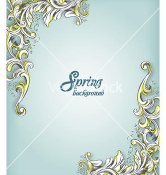 Free floral background vector - Free vector #240157