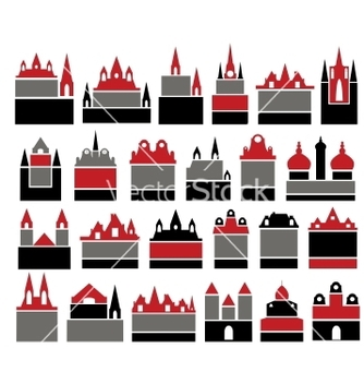Free retro buildings vector - Free vector #240197