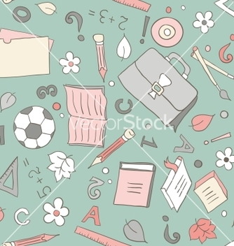 Free seamless school background vector - vector #240217 gratis