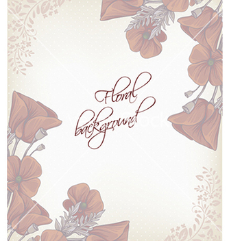 Free floral background vector - Free vector #240247