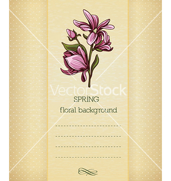 Free floral background vector - Free vector #240297